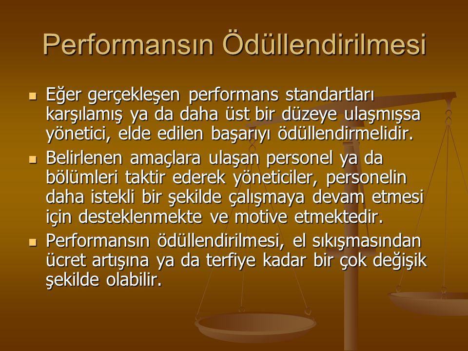 Performansın Ödüllendirilmesi