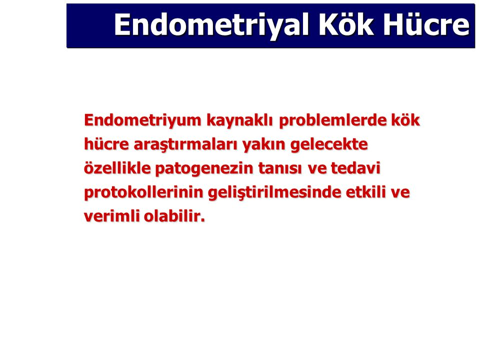 Endometriyal Kök Hücre