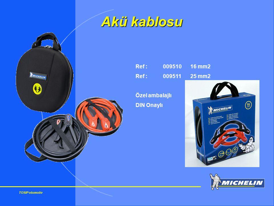 Akü kablosu Ref : 009510 16 mm2 Ref : 009511 25 mm2 Özel ambalajlı