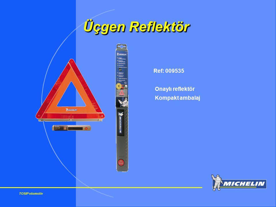 Üçgen Reflektör Ref: 009535 Onaylı reflektör Kompakt ambalaj