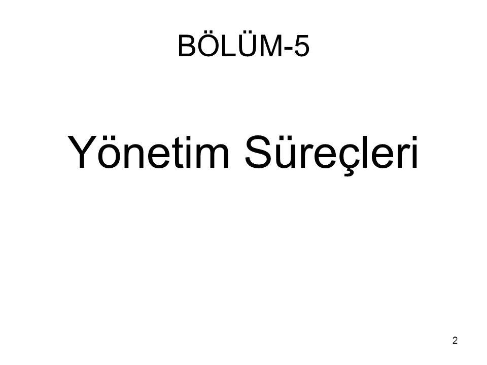 BÖLÜM-5 Yönetim Süreçleri