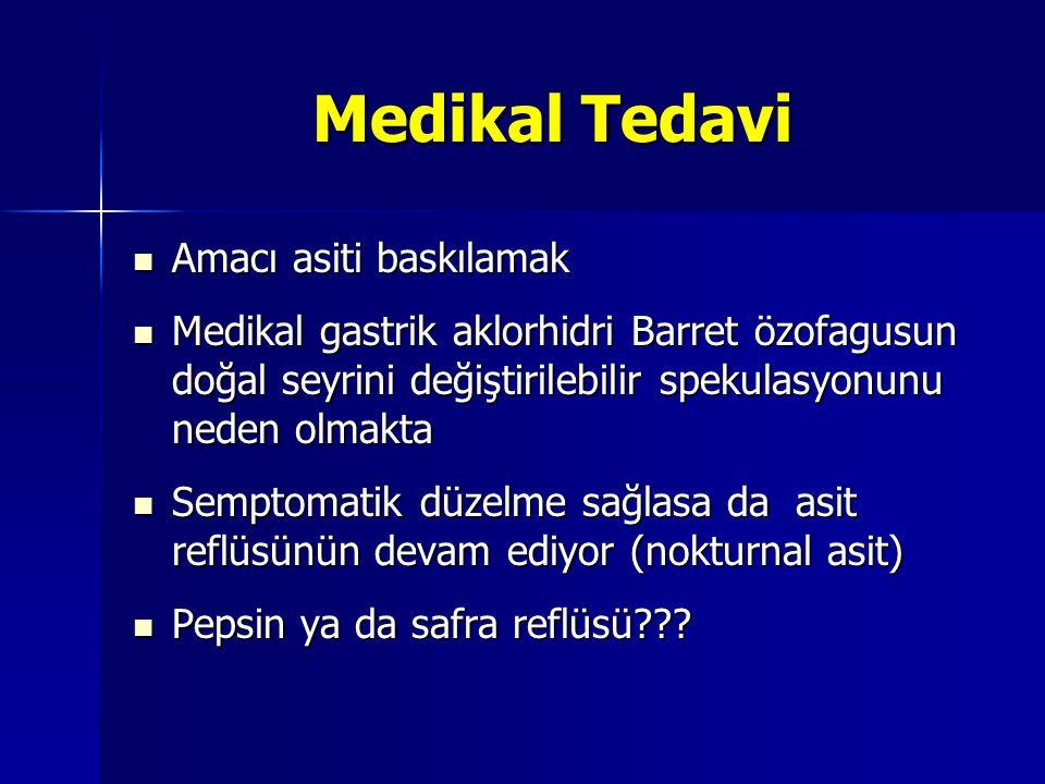 Medikal Tedavi Amacı asiti baskılamak