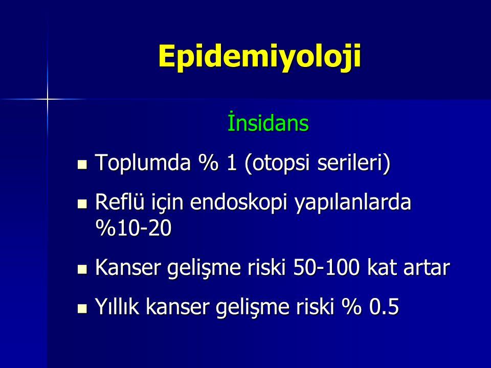Epidemiyoloji İnsidans Toplumda % 1 (otopsi serileri)