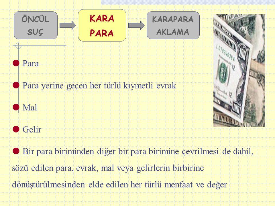 Para yerine geçen her türlü kıymetli evrak Mal Gelir