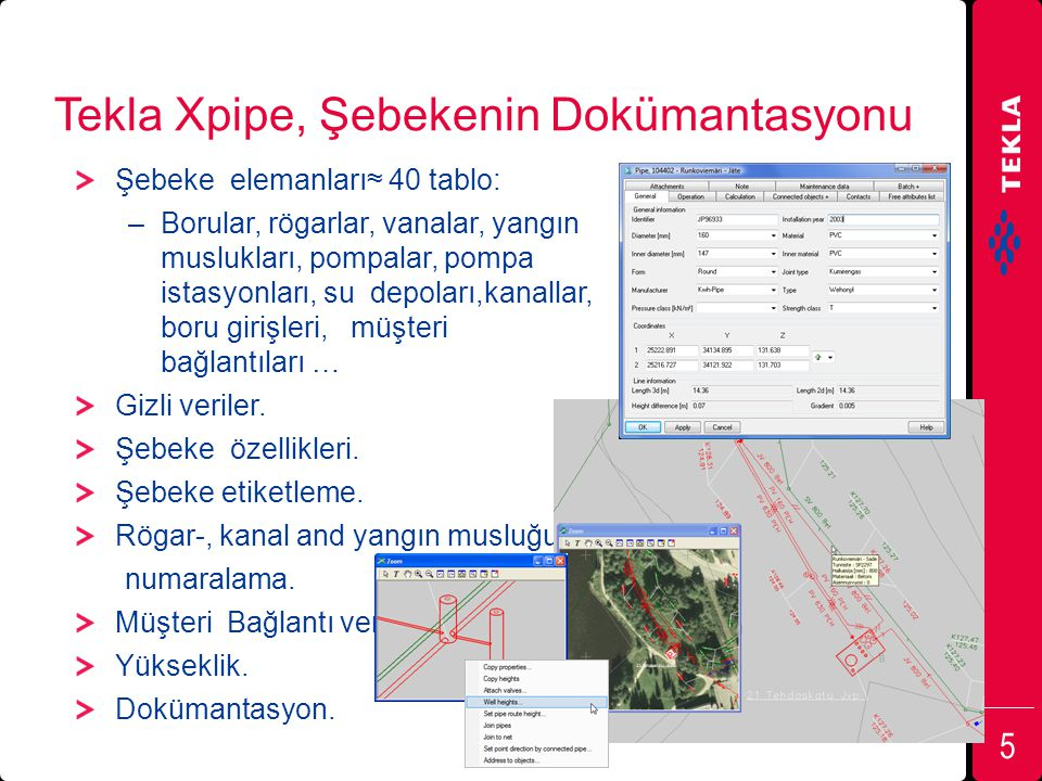 Tekla Xpipe, Şebekenin Dokümantasyonu