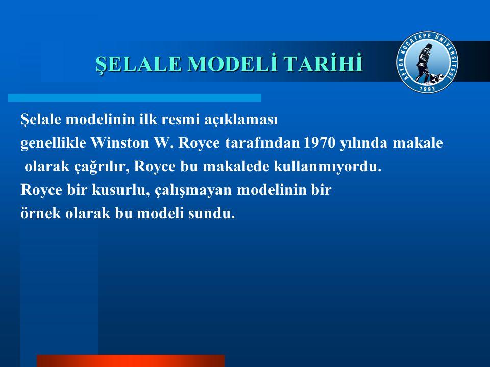 ŞELALE MODELİ TARİHİ