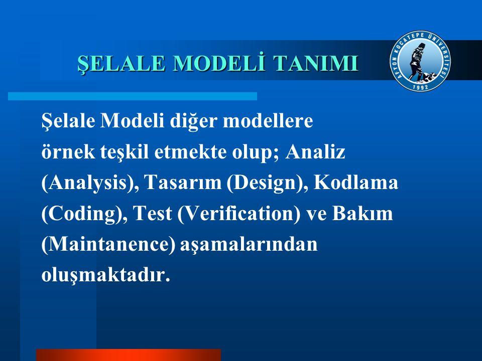 ŞELALE MODELİ TANIMI