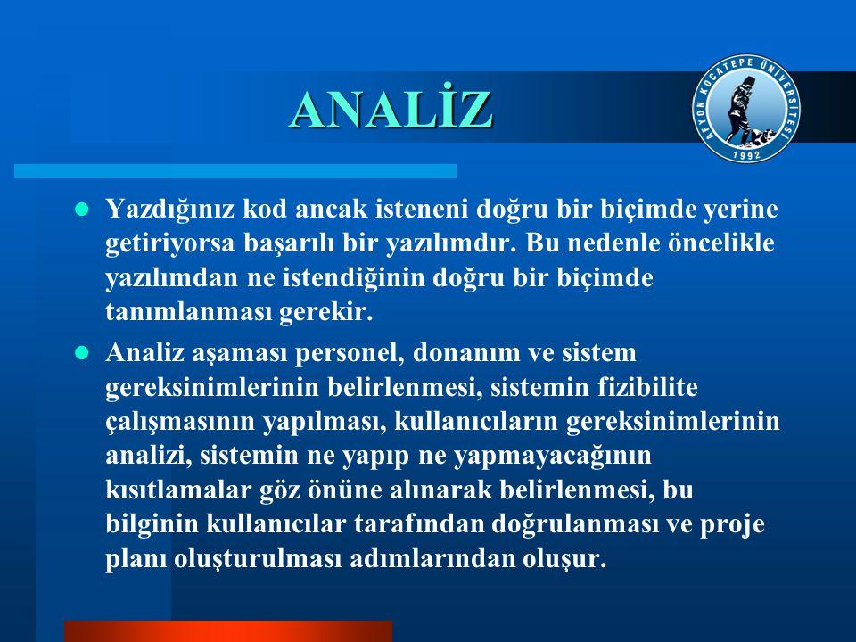 ANALİZ