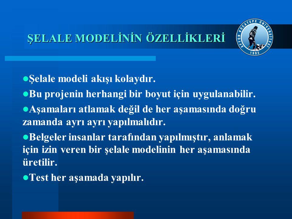ŞELALE MODELİNİN ÖZELLİKLERİ