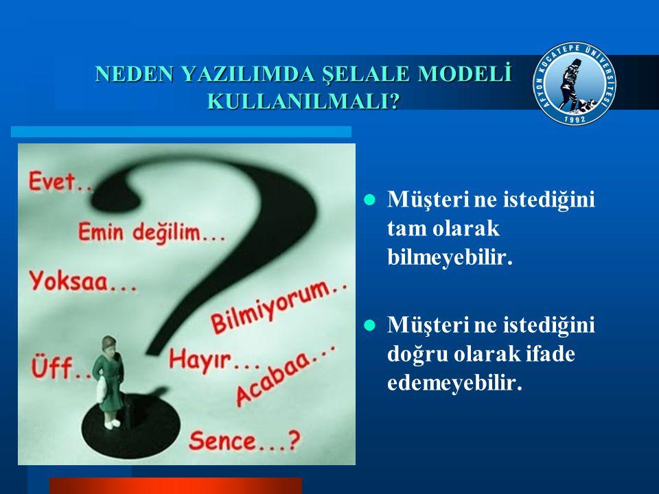 NEDEN YAZILIMDA ŞELALE MODELİ KULLANILMALI