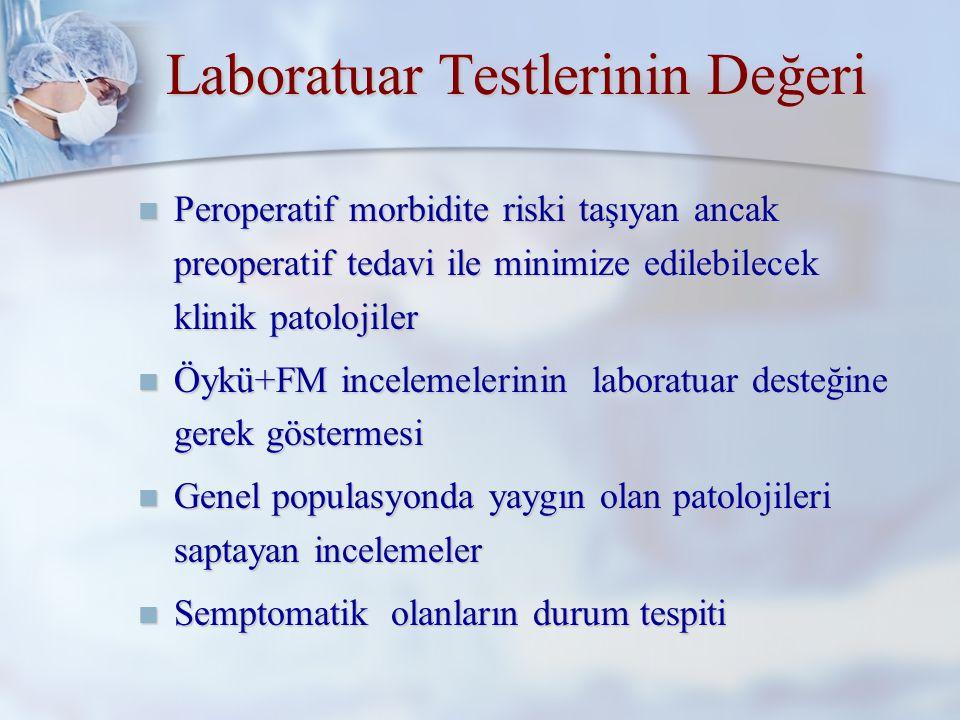 Laboratuar Testlerinin Değeri