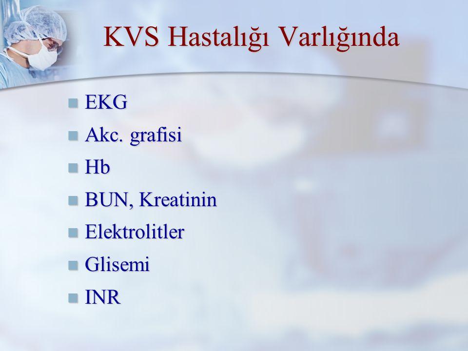 KVS Hastalığı Varlığında