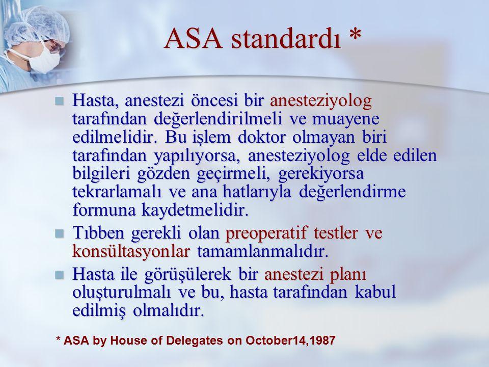 ASA standardı *