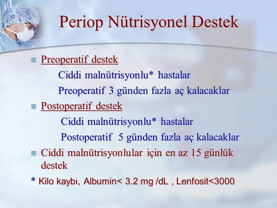 Periop Nütrisyonel Destek