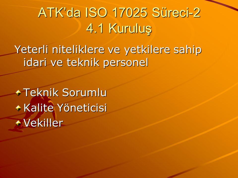 ATK'da ISO 17025 Süreci-2 4.1 Kuruluş