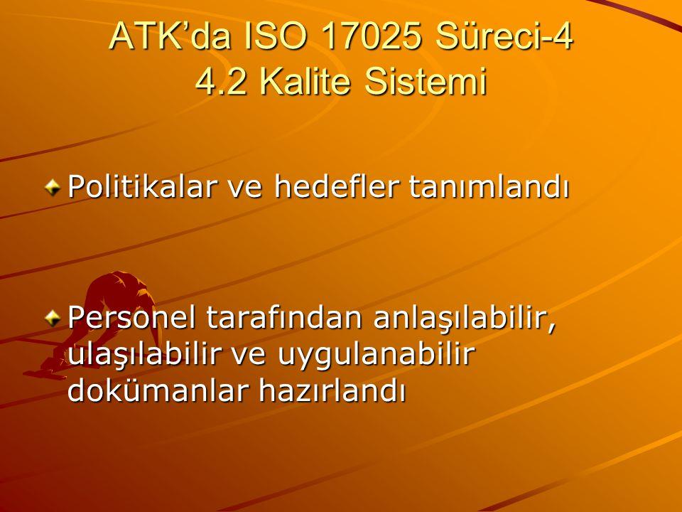 ATK'da ISO 17025 Süreci-4 4.2 Kalite Sistemi