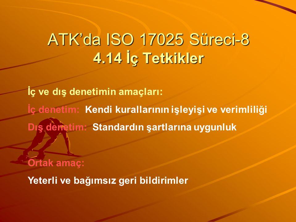 ATK'da ISO 17025 Süreci-8 4.14 İç Tetkikler