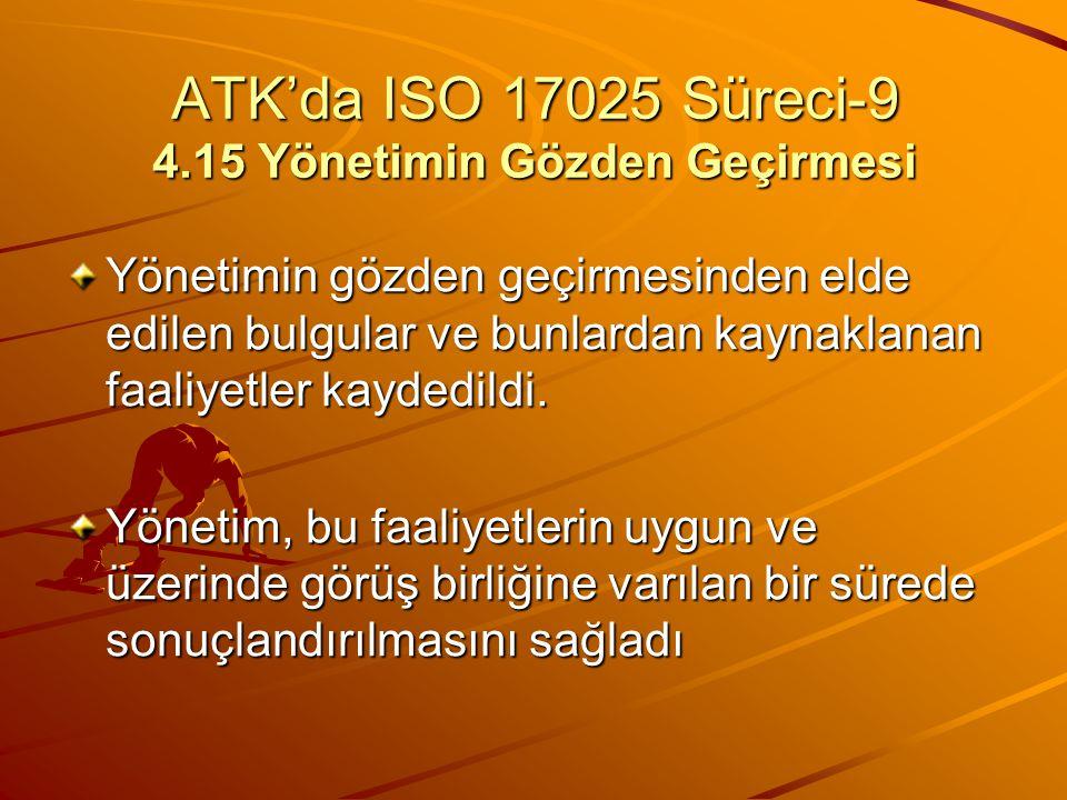 ATK'da ISO 17025 Süreci-9 4.15 Yönetimin Gözden Geçirmesi