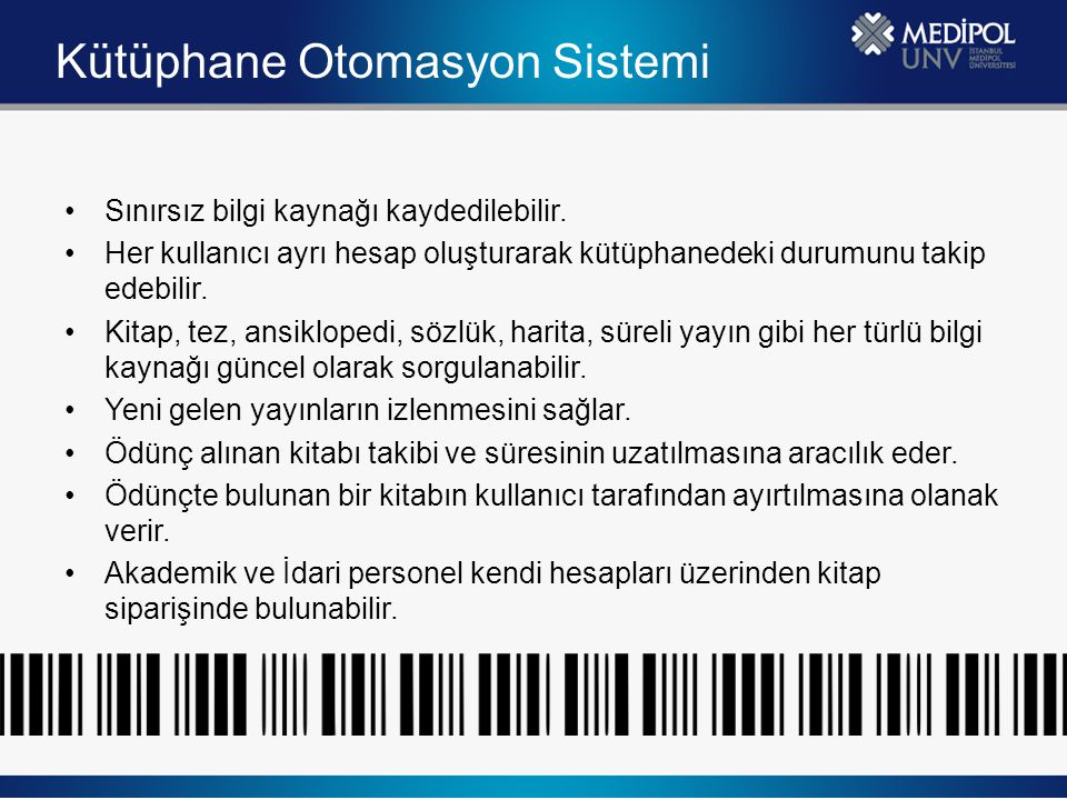 Kütüphane Otomasyon Sistemi