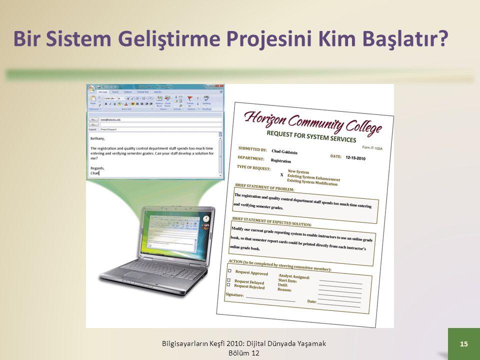 Bir Sistem Geliştirme Projesini Kim Başlatır