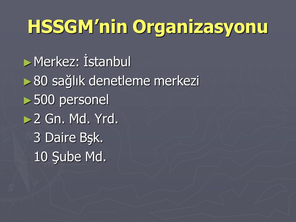HSSGM'nin Organizasyonu