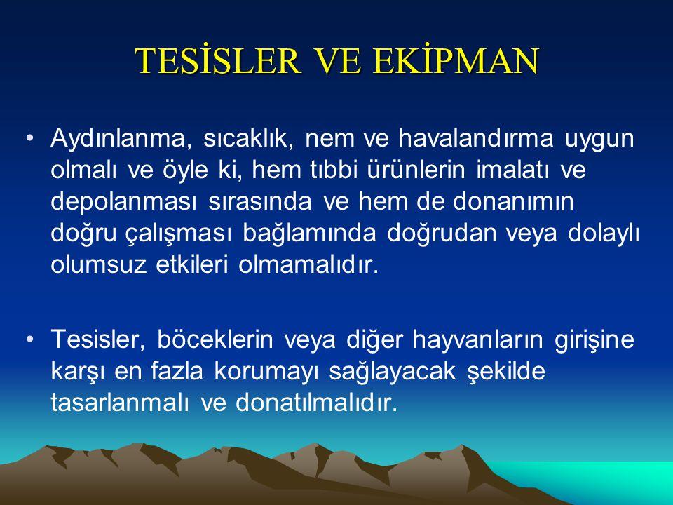 TESİSLER VE EKİPMAN