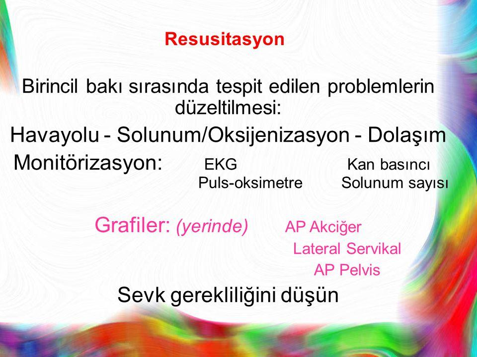 Havayolu - Solunum/Oksijenizasyon - Dolaşım