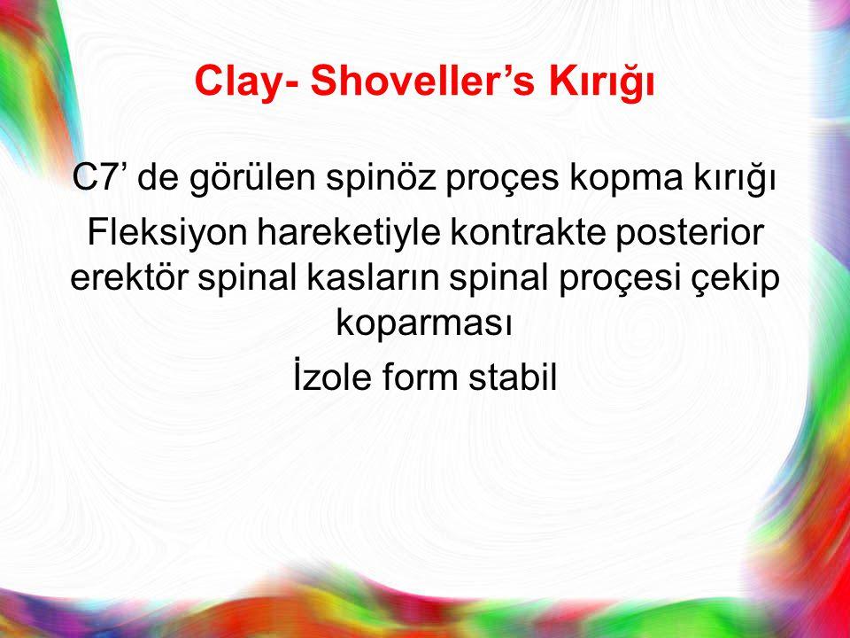 Clay- Shoveller's Kırığı
