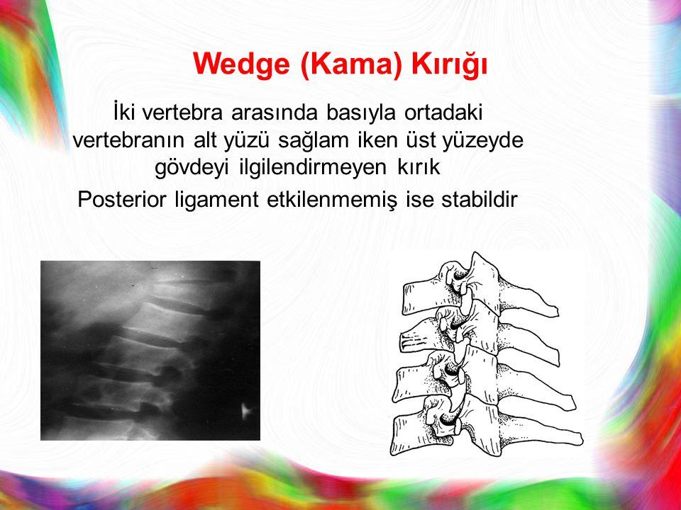 Posterior ligament etkilenmemiş ise stabildir