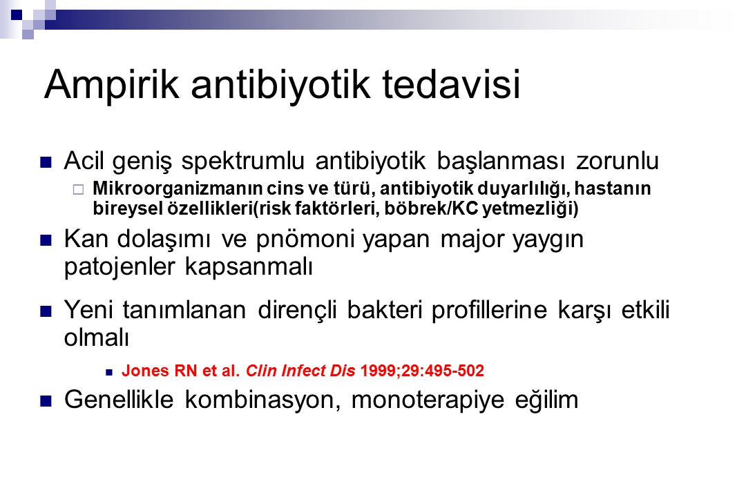 Ampirik antibiyotik tedavisi