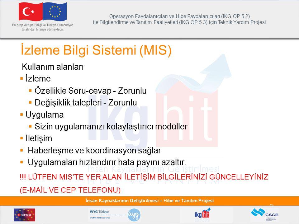 İzleme Bilgi Sistemi (MIS)