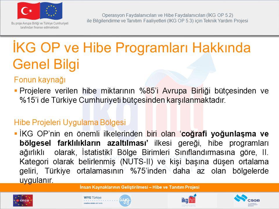 İKG OP ve Hibe Programları Hakkında Genel Bilgi