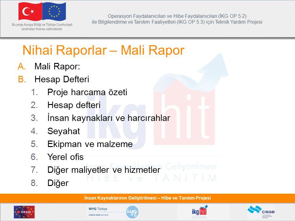 Nihai Raporlar – Mali Rapor