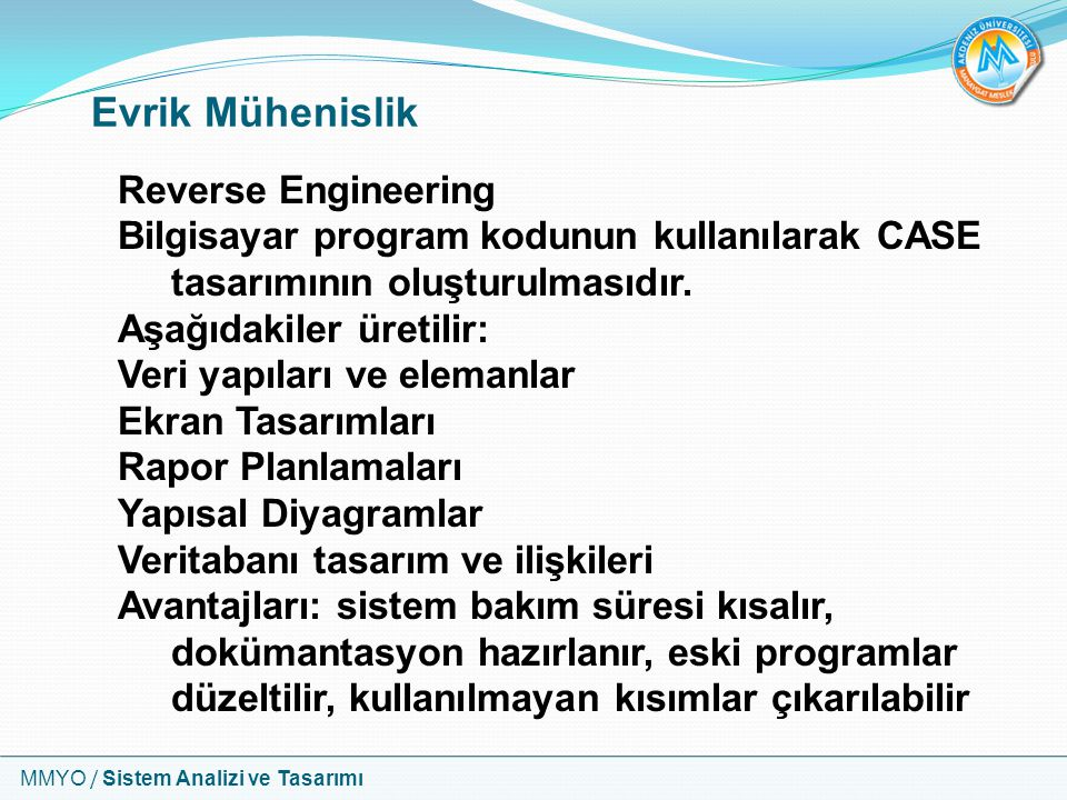 Evrik Mühenislik Reverse Engineering