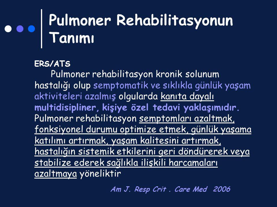 Pulmoner Rehabilitasyonun Tanımı