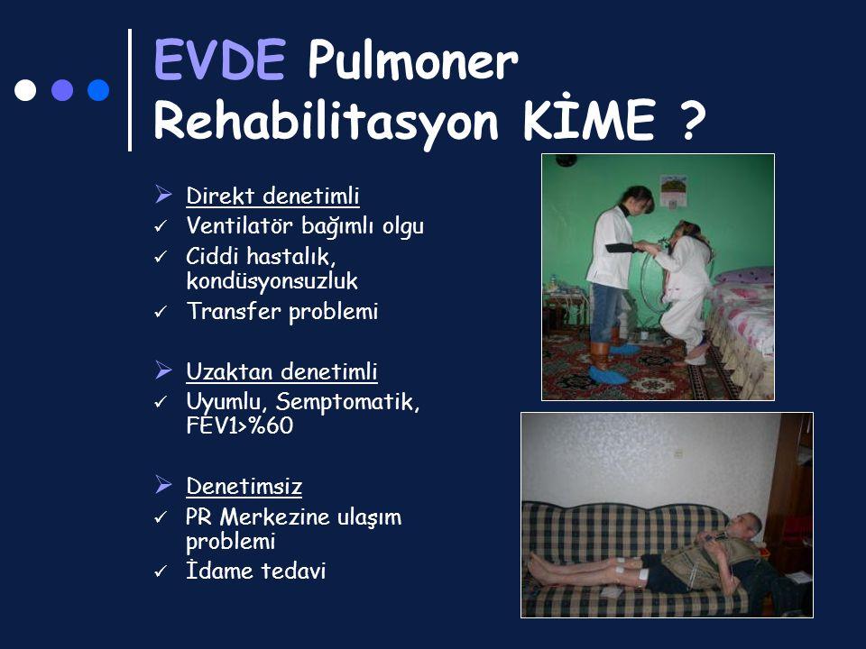 EVDE Pulmoner Rehabilitasyon KİME