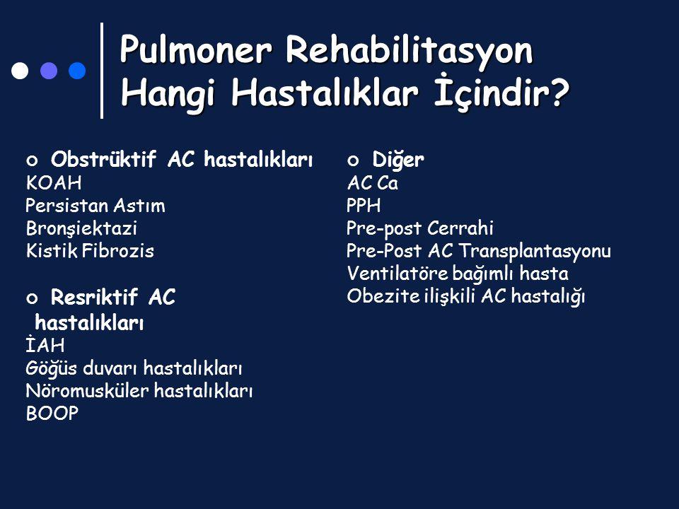 Pulmoner Rehabilitasyon Hangi Hastalıklar İçindir