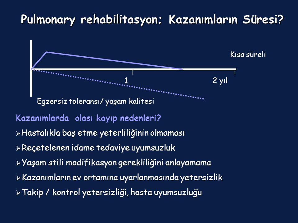 Pulmonary rehabilitasyon; Kazanımların Süresi