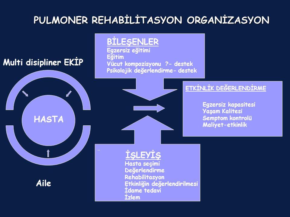 PULMONER REHABİLİTASYON ORGANİZASYON