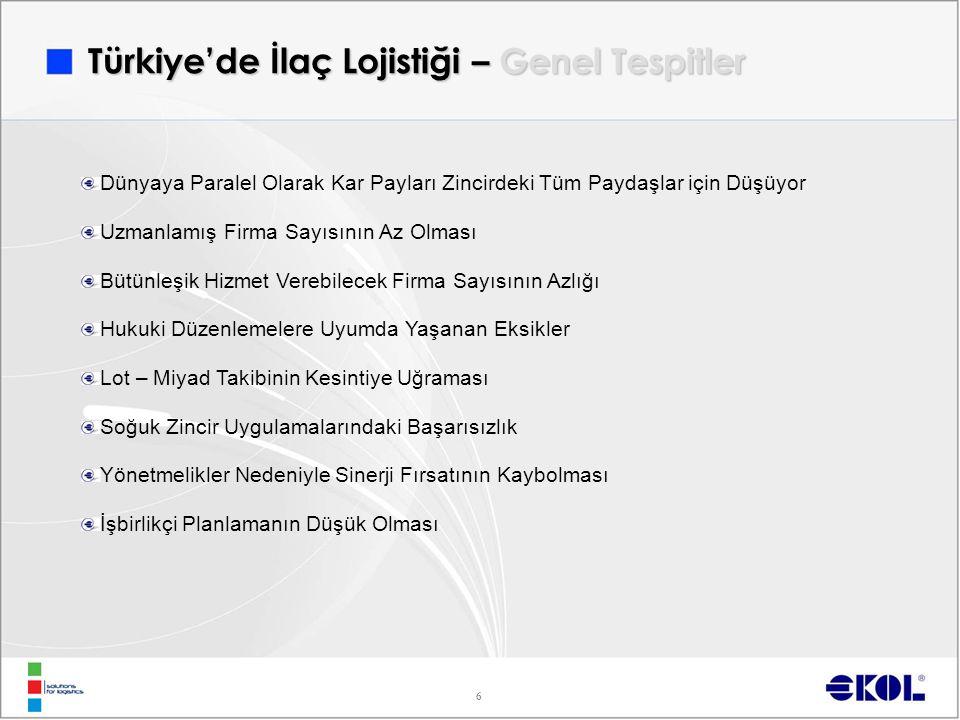 Türkiye'de İlaç Lojistiği – Genel Tespitler