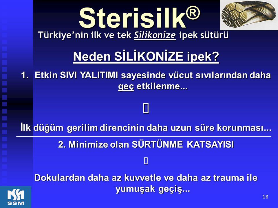 Türkiye'nin ilk ve tek Silikonize ipek sütürü
