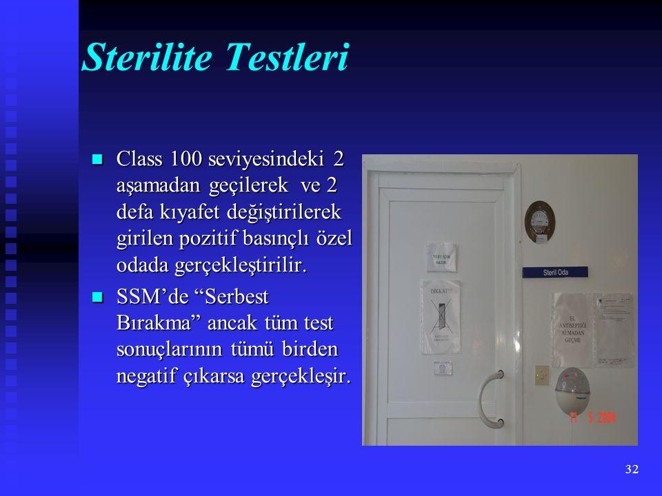 Sterilite Testleri