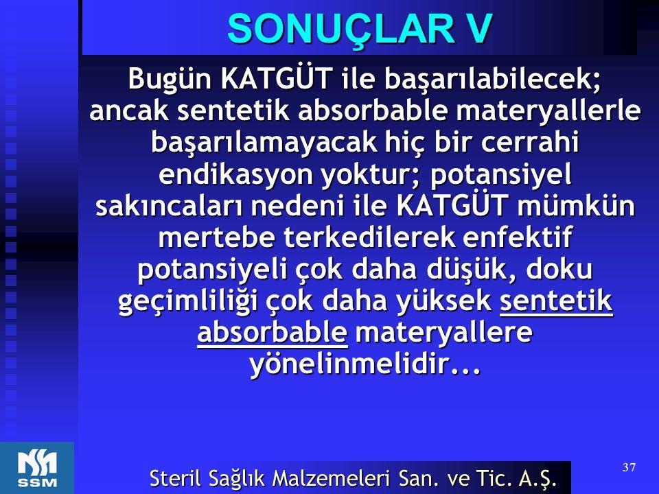 SONUÇLAR V
