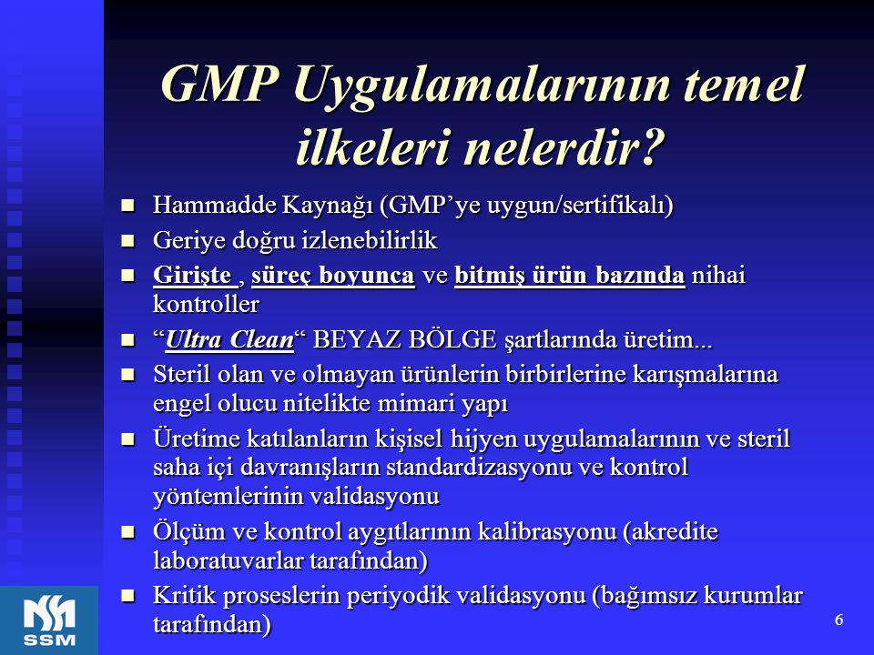 GMP Uygulamalarının temel ilkeleri nelerdir