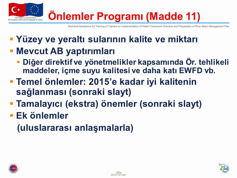 Önlemler Programı (Madde 11)