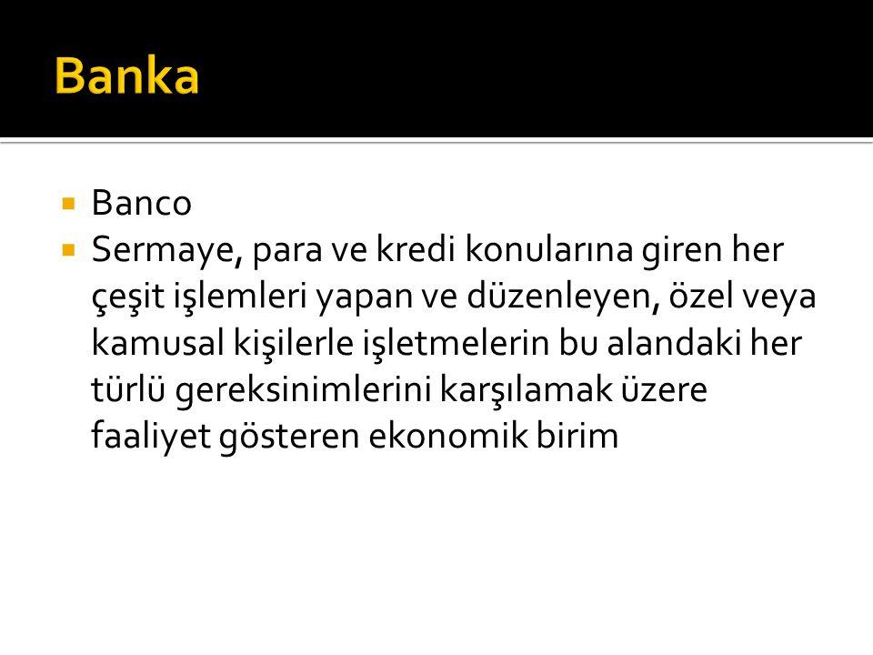 Banka Banco.