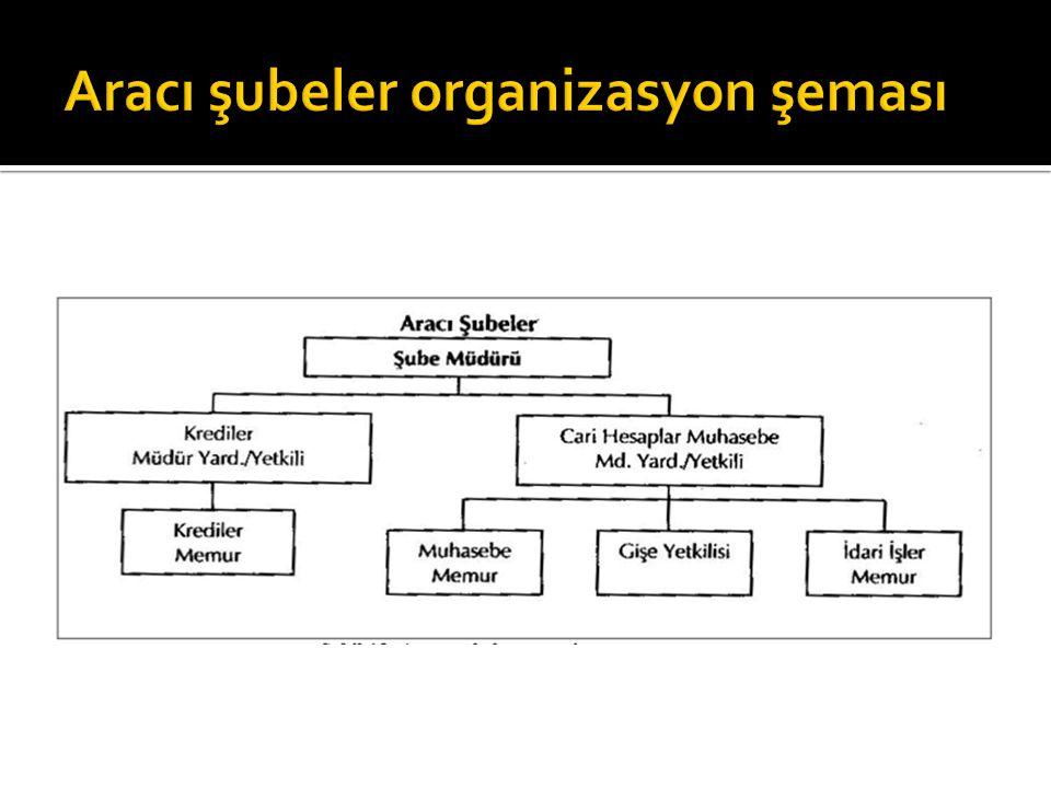 Aracı şubeler organizasyon şeması