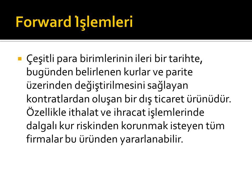 Forward İşlemleri