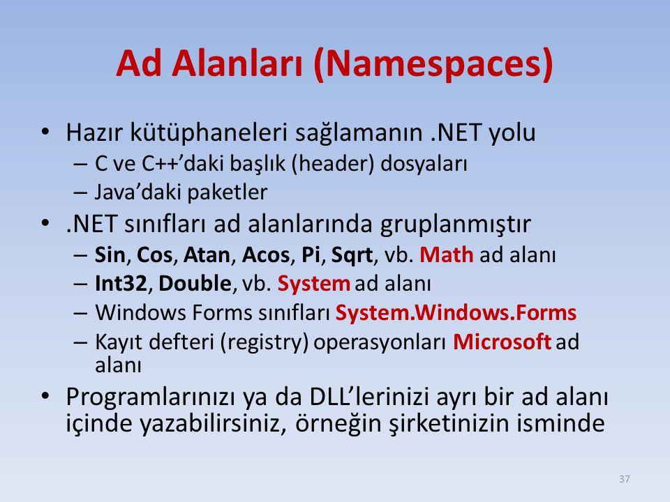 Ad Alanları (Namespaces)