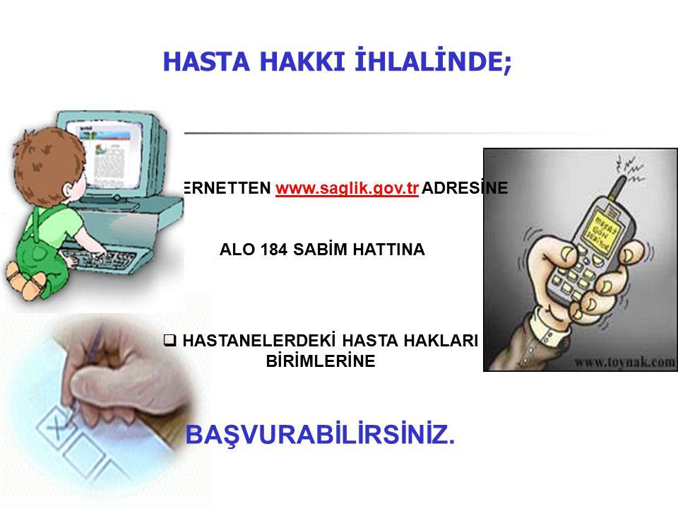HASTA HAKKI İHLALİNDE;